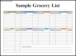 checklist template xls personal grocery list and shopping list template spreadsheet sample