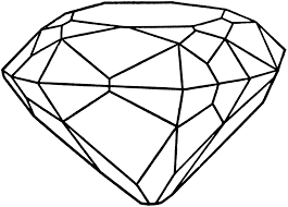 Small Picture Drawn diamond coloring page Pencil and in color drawn diamond