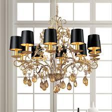modern fl design gold crystal chandelier
