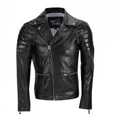 mens black sheep leather vintage style biker fashion casual leather jacket mj 518