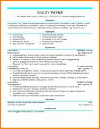 13 Loan Officer Resume How To Make A Cv