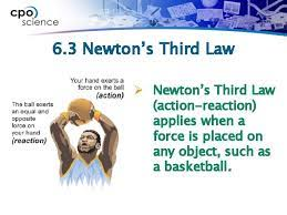 6 3 newtons third law newtons third law