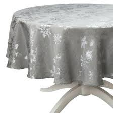 silver tablecloth snowflake round if only i had knows small