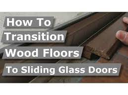 sliding glass door transition flooring