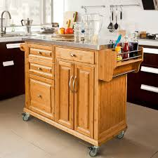 Kitchen Trolley Sobuy Xxl Kitchen Trolley With Storage Cabinet Bestbutchersblockcom