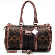 Coach In Signature Medium Coffee Luggage Bags APV