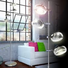 Cob Led 20 Watt Stehlampe Fluter Leseleuchte Beleuchtung Glas Chrom