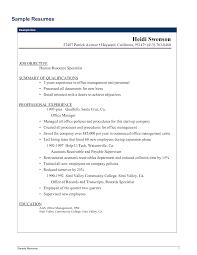 Procurement Resume Objective Sample Resumes