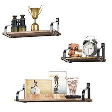 china diy creative floating rustic wood shelf metal wall shelves