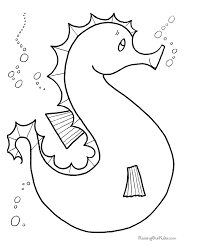 Water Animal Preschool Coloring Pages Free Printable Coloring Pages
