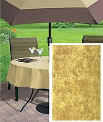 70 inch round flannel backed vinyl tablecloth get ations a gold marble solid color print heavy