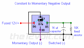 to momentary output negative input negative output relay diagrams constant to momentary output negative input negative output