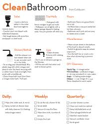 Bathroom Cleaning Flow Chart Free Download Bathroom Cleaning Cheat Sheet And Checklist