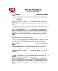 Blank Rental Agreement – 9+ Free Word, Pdf Documents Download | Free ...