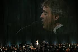 andrea bocelli performed in his american tour for my at madison square garden on thursday credit michelle v agins the new york times