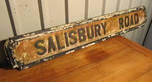 street sign furniture. SALISBURY ROAD A Victorian Street Sign Antique Signs Furniture