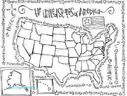Free United States Map Coloring Page Free United States Map Coloring