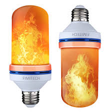 Fimitech Flame Light Bulbs Flame Bulb 2 Pack