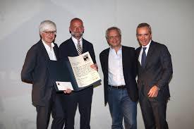 da sx Severgnini con Mattia Feltri Mentana e Pratolongo - Il Premiolino