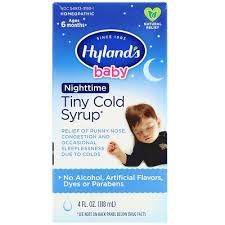 <b>Baby</b>, <b>Tiny Cold Syrup</b>, Nighttime, Ages 6 Months+, 4 fl oz (118 ml ...