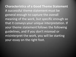 langston hughes recurring themes prior knowledge what do you  10 characteristics of a good theme statement a successful theme statement must be general enough to capture the overall meaning of the work but specific