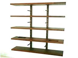wall bracket for shelves create tidy storage areas with