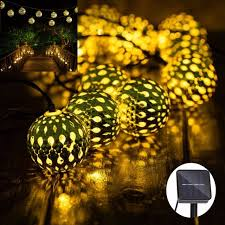 outdoor moroccan lighting. Solar String Lights 10 LED Fairy Moroccan Ball Lighting Indoor Outdoor Home  Garden Party Holiday Decorations Outdoor Moroccan Lighting I