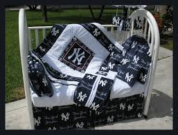 new baby crib bedding set in new york ny yankees fabric