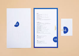 Forty Four 16 Design Forty Four On Behance Manduka Menu Layout Graphic