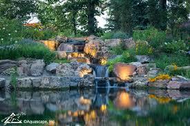 backyard lighting ideas water feature