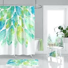 image 0 blue white shower curtain and mint green aqua
