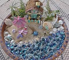mini beach fairy garden starter set kit mermaid cottage house sand s 5