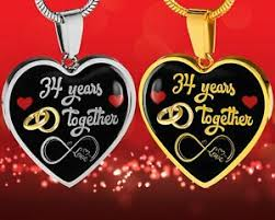 image is loading personalized end 34th wedding anniversary gift for her