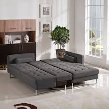 Opus Bedroom Furniture Diamond Sofa Chocolate Opus Convertible Tufted Rf Chaise Sectional