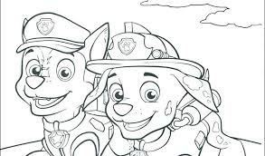 Colouring Pages Paw Patrol Chase Rubble Paw Patrol Coloring Page