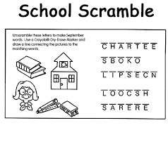 Small Picture School Scramble Coloring Page crayolacom