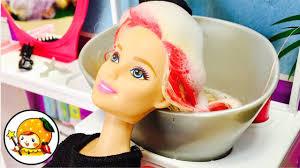 リカちゃん 美容室でヘアアレンジ バービー 髪の毛キラキラ大変身