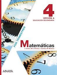 9788467802498: Matemáticas, 4 ESO, Opción A