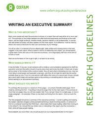 Executive Summary Writing An Executive Summary