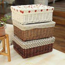 Large wicker basket Wheels Decorative Rattan Wicker Baskets Large Middle Small White And Brown Wicker Baskets For Laundry Food Clothing Sundries Neatening Maison By Emma Jane Decorative Rattan Wicker Baskets Large Middle Small White And Brown