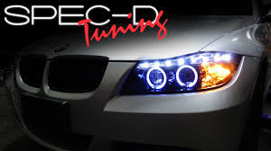 2007 Bmw 328i Halo Light Bulb Specdtuning Installation Video 2006 2008 Bmw E90 3 Series 4 Door Projector Headlights
