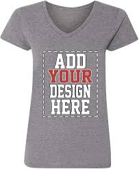How To Make T Shirt With Your Own Design Custom V Neck T Shirts For Women Make Your Own Shirt Add Your Design Picture Photo Text Printing