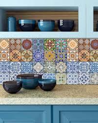 kitchen backsplash tile stickers realistic backsplash tile stickers 24 pc set authentic traditional