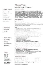 Medical Office Administration Duties Free Sample Resume Medical Office Manager Examples For Tutorial