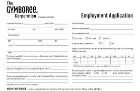 Gymboree Application Pdf Print Out