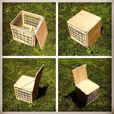 milk crate storage. Wonderful Crate Picture Of Milk Crate Chair For Camping Or Vinyl Storage Upgrade  Inside