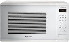 panasonic genius microwave oven nn su656w countertop microwave oven with genius cooking sensor and popcorn