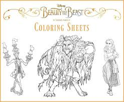 Small Picture Disneys BEAUTY AND THE BEAST Coloring Sheets BeOurGuest