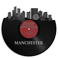 manchester skyline vinyl wall art silver framed on manchester skyline wall art with manchester skyline vinyl wall art silver framed reverb