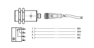 connectivity of proximity sensors typically you use 3 wire cordsets like a v11 g bk5m pur u for 3 pin single output sensors such as the pnp inductive proximity sensor nbb5 18gm50 e2 v1